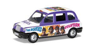 London Taxi - The Beatles 'Hey Jude' (Wit/Paars) 1/43 Corgi