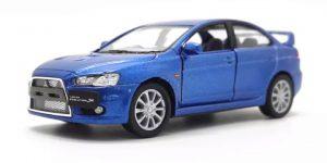 2008 Mitsubishi Lancer Evolution X (Blauw) - Kinsmart 1:36