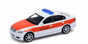 BMW 330i Notarzt Ambulance auto (Wit) 1/43 Welly