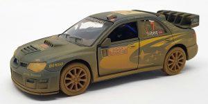 Subaru Impreza WRC 2007 (Blauw/Geel) 1/36 Kinsmart