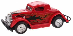 Hot Rod Auto Metal Pull Back (Rood) 9 cm Toi Toys