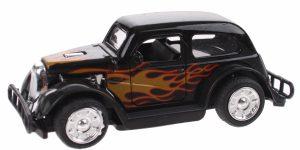 Hot Rod Auto Metal Pull Back (Zwart) 9 cm Toi Toys