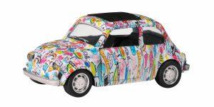Graffiti Car Metal Pull Back Fiat 500 Toi-Toys