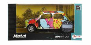 Graffiti Car Metal Pull Back Mini Cooper Toi-Toys