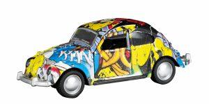 Graffiti Car Metal Pull Back Kever Beetle Toi-Toys