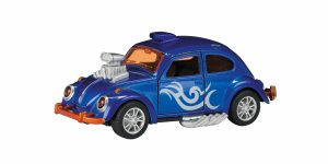 Hot Rod Kever Beetle Metal (Donkerblauw) Toi-Toys 13 cm