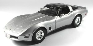 1982 Chevrolet Corvette Coupe (Zilver) 1/43 Welly