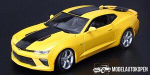 2016 Chevrolet Camaro SS (Geel/Zwart) 1/18 Maisto