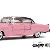 1955 Cadillac Fleetwood + Elvis Presley Figuur (Roze) 1/24 Jada