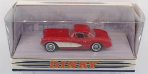 1956 Chevrolet Corvette (Rood) 1/43 – The Dinky Collection – Matchbox Collectibles