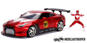 2009 Nissan GT-R + Powe Ranger (Rood) 1/24 Jada