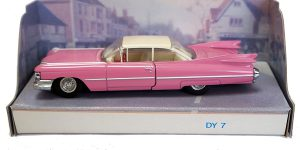 1959 Cadillac Coupe De Ville (Roze) 1/43 - The Dinky Collection - Matchbox Collectibles