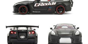 2009 Nissan GT-R Ben Sopra (Mat Zwart) 1/32 JDM Tuners