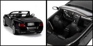 Bentley Continental GT Speed Convertible (Zwart) (50 cm) 1/12 Rastar