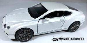 Bentley Continental GT Speed (Wit) 1/38 Kinsmart