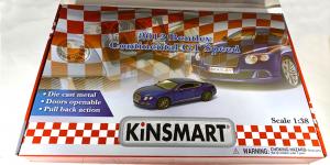Bentley Continental GT Speed Sport Assortiment (12 stuks) 1/38 Kinsmart
