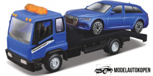 Flatbed Transporter + Audi A6 Avant (Blauw)