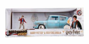 1959 Ford Anglia + Harry Potter Figuur (Lichtblauw) 1/24 Jada