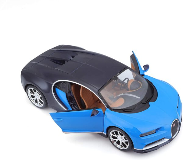 Bugatti Chiron 2017 (Blauw/Zwart) 1/24 Welly