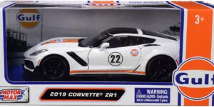 Chevrolet Corvette ZR1 ''Gulf Collection'' 2019 (Wit) 1/24 Motor Max