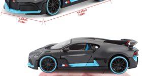 Bugatti DIVO Special Edition (Grijs/Blauw) 1/24 Maisto
