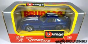 Dodge Viper RT 10 (Blauw) - Bburago 1:43