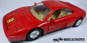 Ferrari 348 (Rood met Beige interieur) - Welly 1:40 (Opruiming)