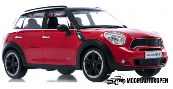 Mini Cooper S (Rood) (Radiografisch Bestuurbaar)