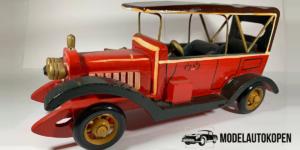 Handgemaakte Vintage Cabriolet Auto (Rood) - Met Dak (Opruiming)