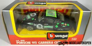 Porsche 911 Carrera Cup (Zwart) - Bburago 1:43 (Inclusief Doos)