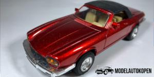 Super Racer Jaguar Pull Back & Go (Rood) - Welly 1:43