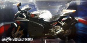 Aprilia RSV 1000R (Zwart/Zilver) (12 cm) 1/24 Atlas Superbikes