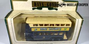 1931 AEC Renown Double Deck Bus Heinz Spaghetti - Lledo 1:43
