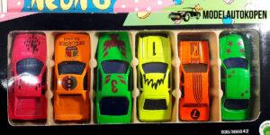 Neon 6 Sportauto set (6 auto's)
