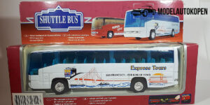 Shuttle Bus, Touringcar Express Tours (wit) - 1:76