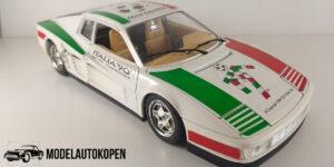 Ferrari Testarossa (1984) Italia '90 (Wit) 1/18 Bburago - Magazijn Opruiming