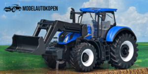 Tractor New Holland (Blauw) Bburago