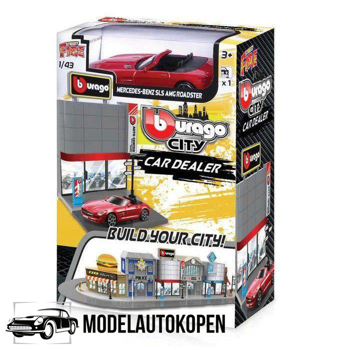 Bburago City Car Dealer - Mercedes-Benz SLS AMG Roadster 1/43 Speelgoed
