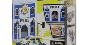 Bburago City Police Station - Ford Focus ST Politieauto 1/43 Speelgoed