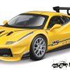 Ferrari 488 Challenge - Bburago (Geel, 19cm) 1/24