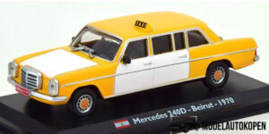 Mercedes 240D Beirut 1970 Taxi (Geel/Wit) (15cm) 1/43 Atlas