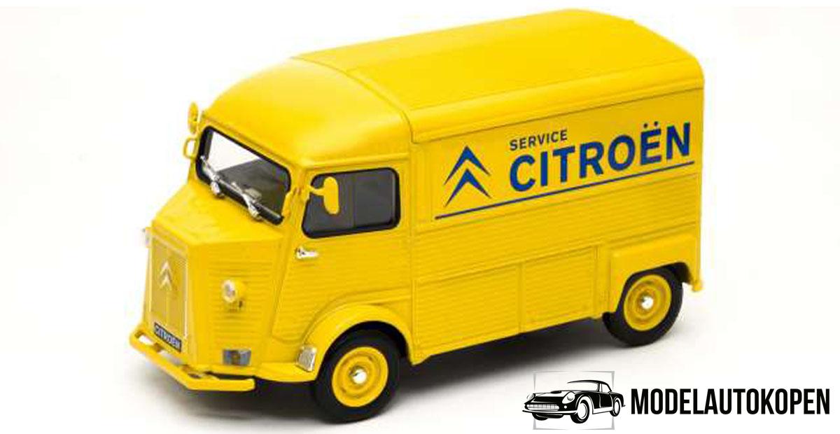 Citroën Type H Service Bus (Geel) (22cm) 1/24 Welly