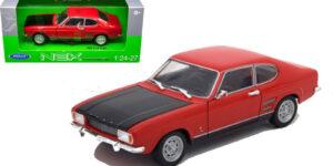 1969 Ford Capri RS (Rood/Zwart) (22cm) 1/24 Welly