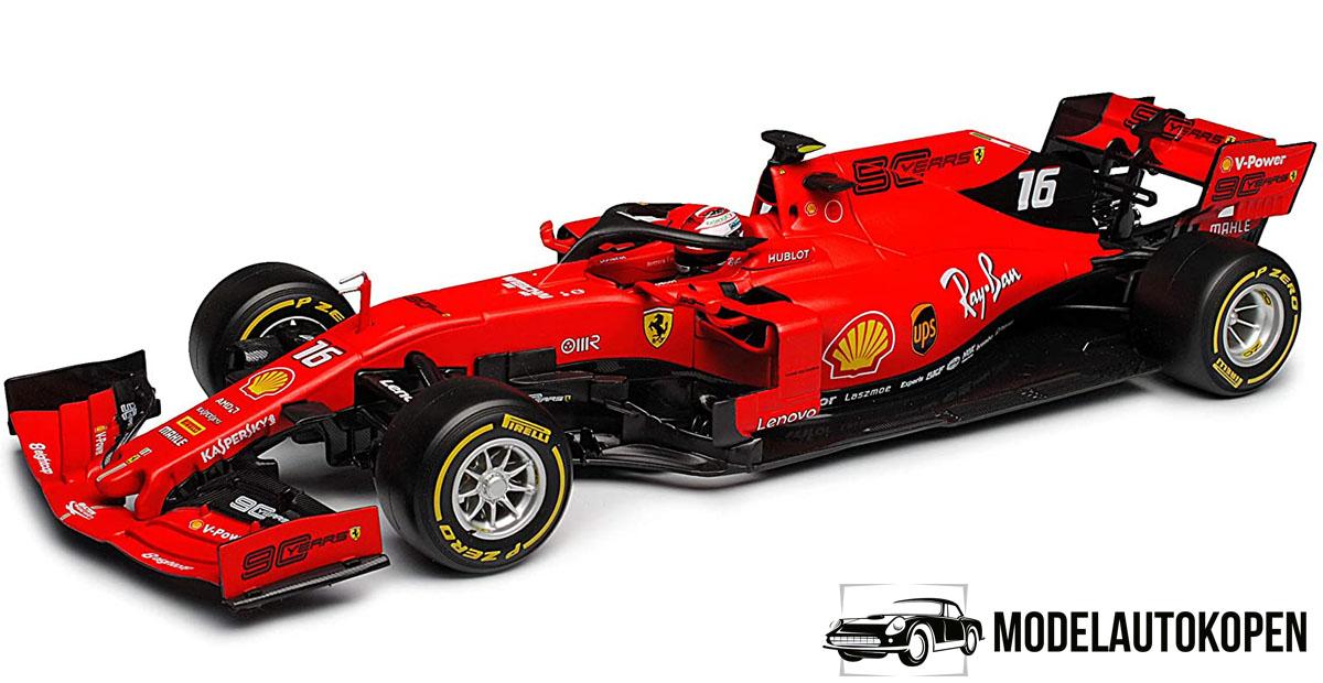 Ferrari SF90 C. Leclerc - (rood, 30cm) Bburago 1/18
