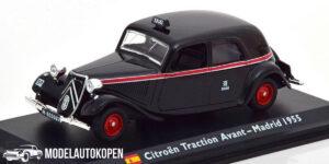 Citroën Traction Avant Madrid 1955 Taxi (Zwart) (15cm) 1/43 Atlas