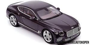Bentley Continental GT 2018 (Damson Metallic/Donkerpaars) (30cm) 1/18 Norev