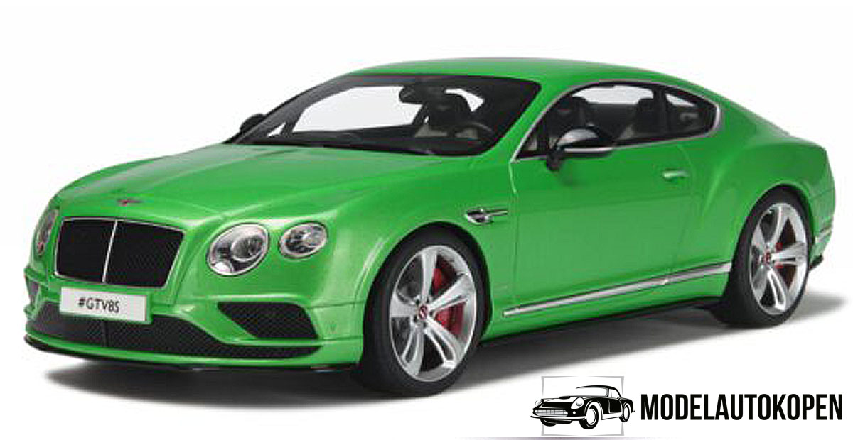 Bentley Continental GT V8S Coupé (Groen) (30cm) 1/18 GT Spirit