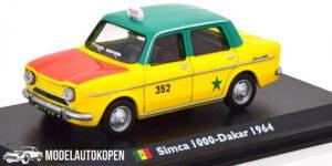 Simca 1000 Dakar 1964 Taxi (Geel) (15cm) 1/43 Atlas