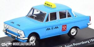 Moskvitch 408 Saint Petersburg 1964 Taxi (Blauw) (15cm) 1/43 Atlas