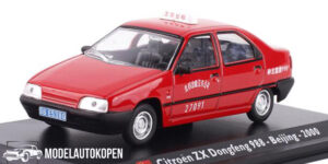 Citroën ZX Dongfeng 988 Beijing 2000 Taxi (Rood) (15cm) 1/43 Atlas